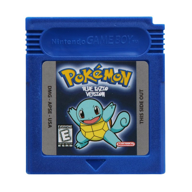 Pokemon Blue Kaizo Gameboy Color GBC Cartridge Card US Version