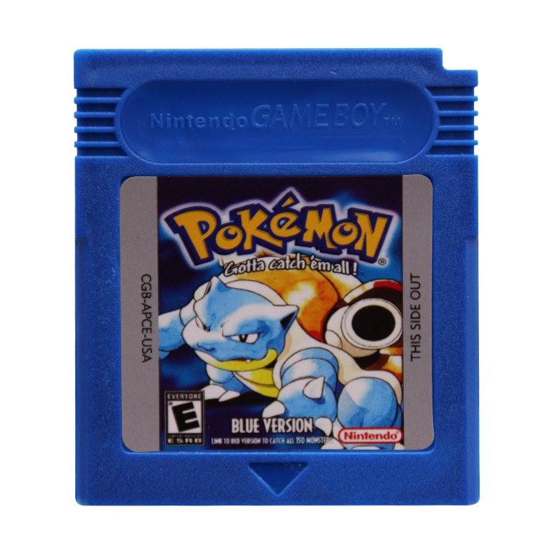 Pokemon Blue Gameboy Color GBC Cartridge Card US Version