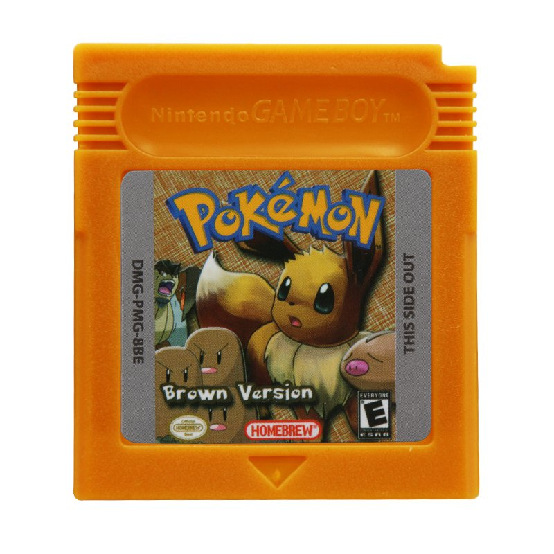 Pokemon Brown Version D Gameboy Color GBC Cartridge Card US Version