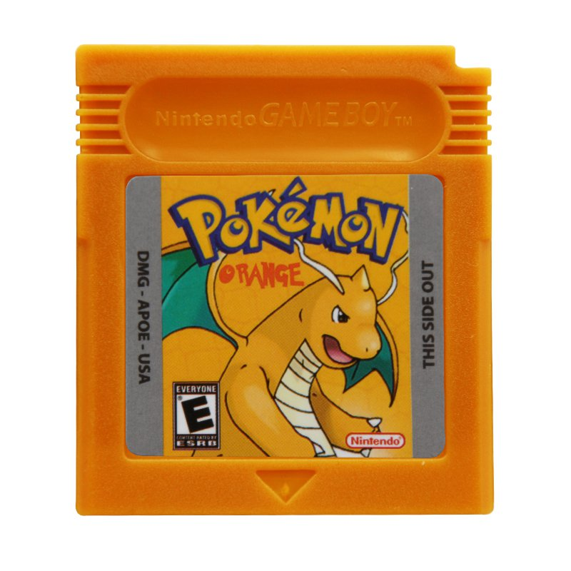 Pokemon Orange Gameboy Color GBC Cartridge Card US Version