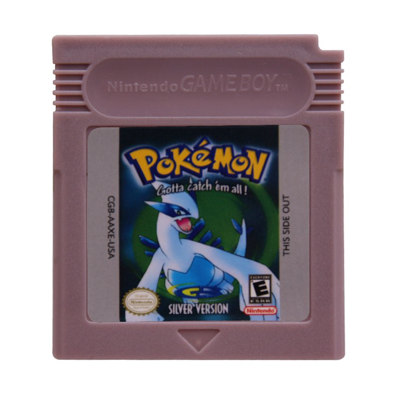 Pokemon Silver Gameboy Color GBC Cartridge Card US Version