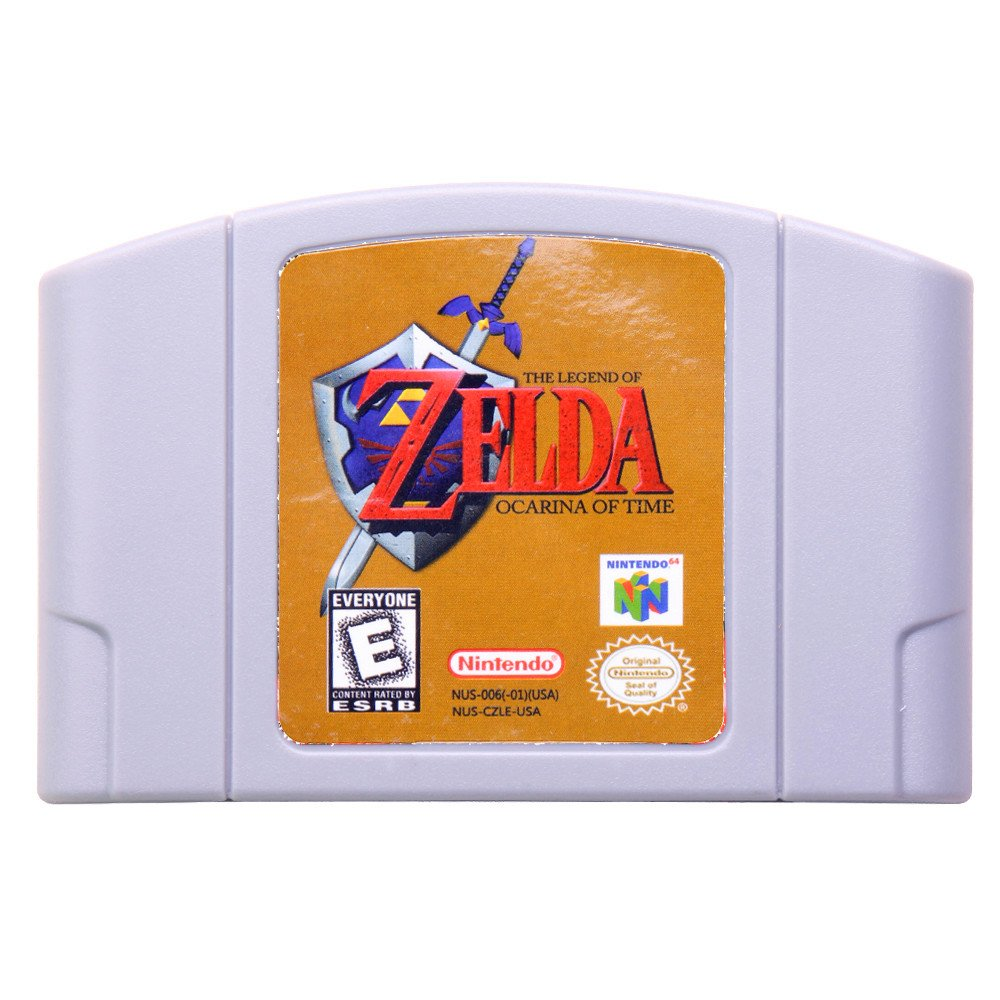 Legend of Zelda-Ocarina of Time Nintendo 64 N64 Cartridge Card US Version