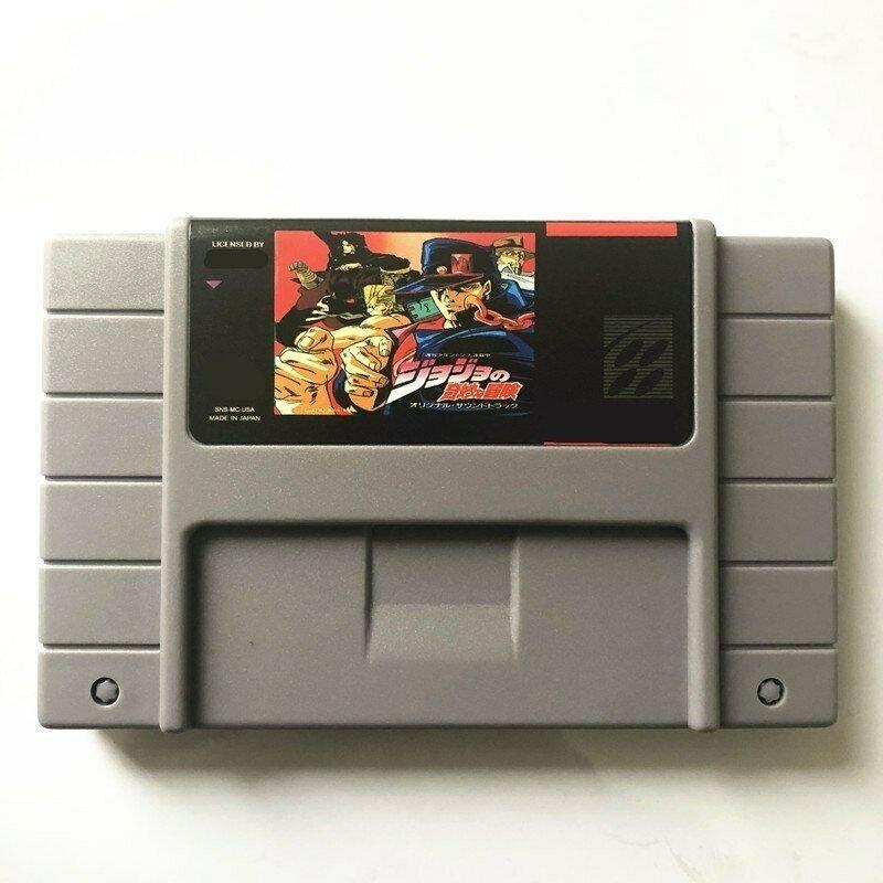 JoJo's Bizarre Adventure Super Nintendo SNES NTS RPG Cartridge Card US Version