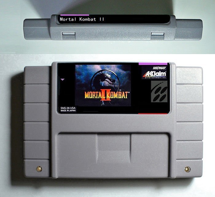 Mortal Kombat 2 Super Nintendo SNES NTSC Cartridge Card US Version English