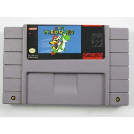 Super Mario World Super Nintendo SNES NTSC Cartridge Card US Version Saved