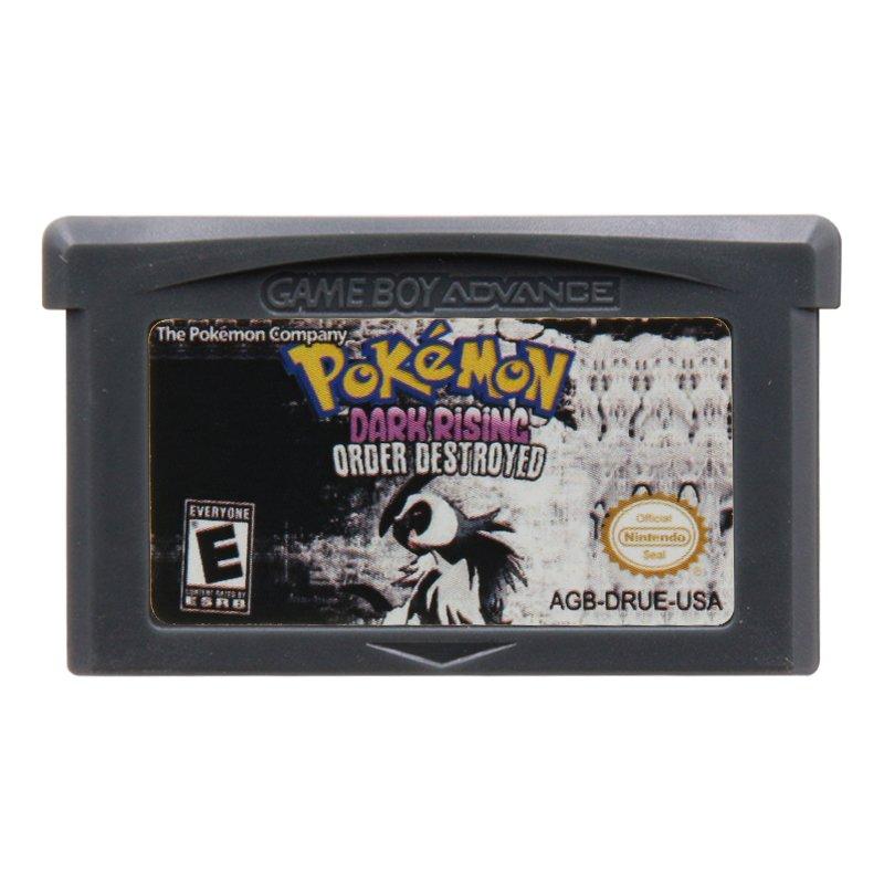Pokemon Dark Rising Order Destroyed Gameboy Advance GBA Cartridge Card US Version