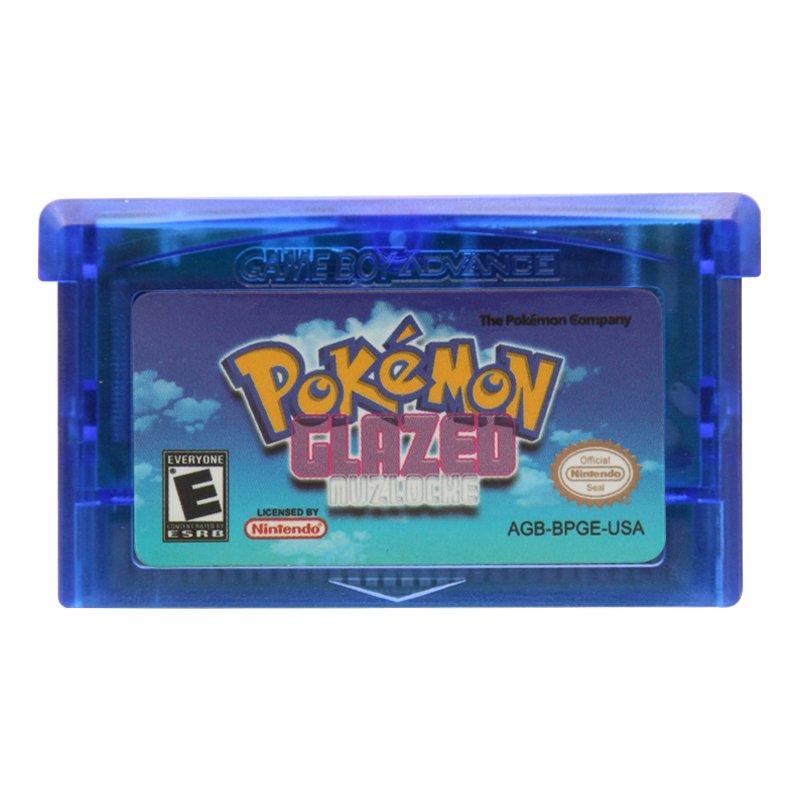 Pokemon Glazed Gameboy Advance GBA Cartridge Card US Version
