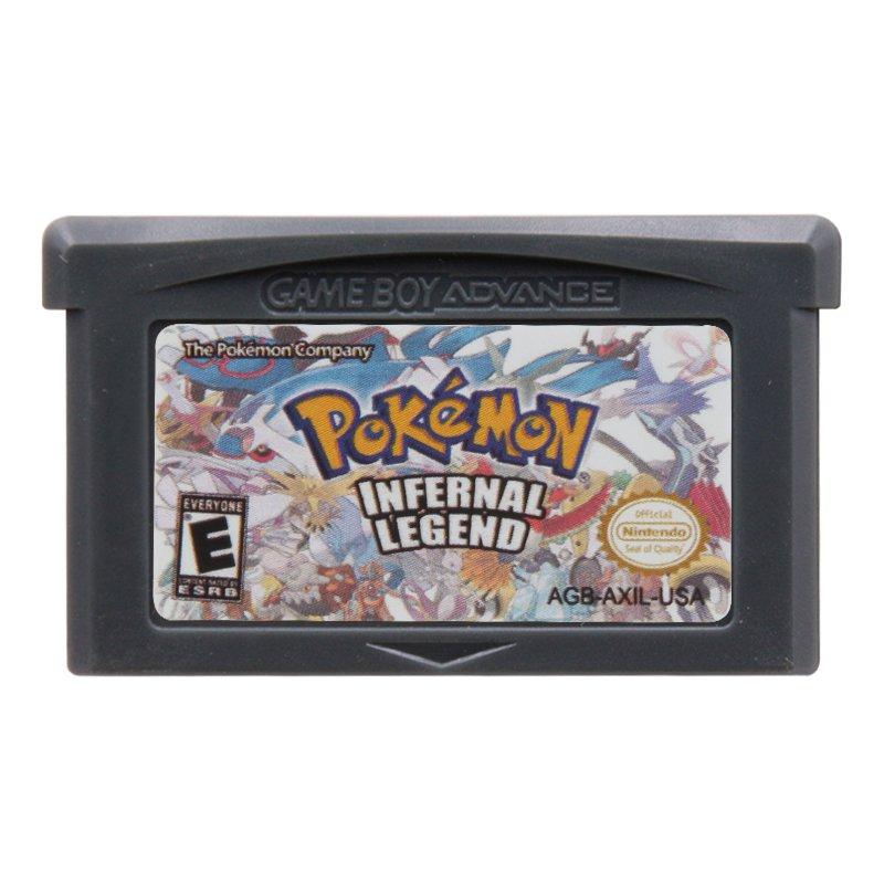 Pokemon Infernal Legend Gameboy Advance GBA Cartridge Card US Version