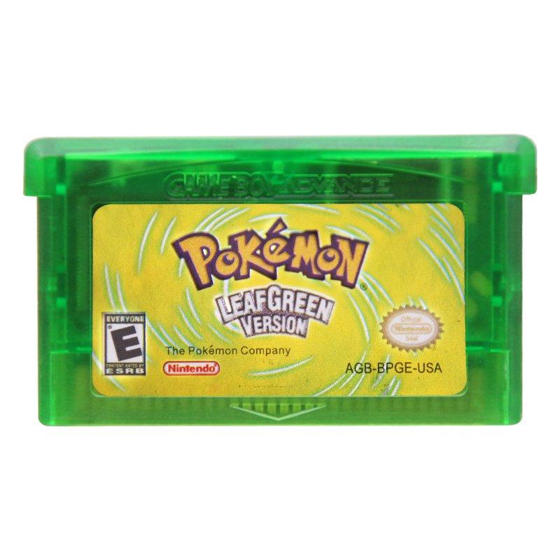 Pokemon LeafGreen Version Gameboy Advance GBA Cartridge Card US Version
