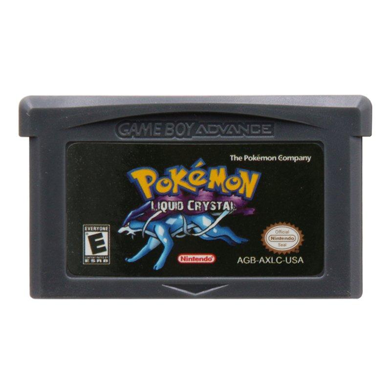 Pokemon Liquid Crystal Gameboy Advance GBA Cartridge Card US Version