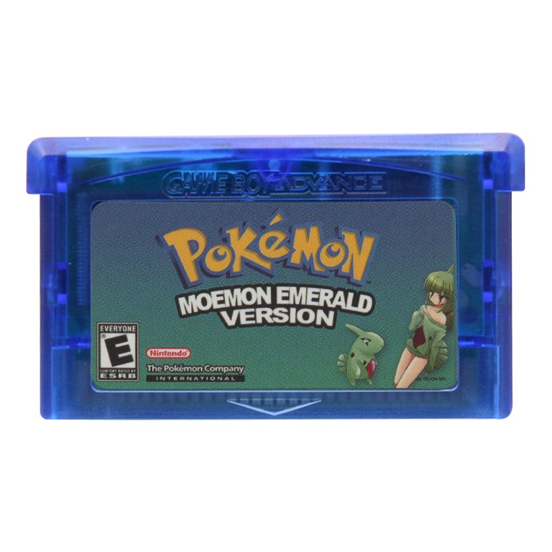 Pokemon Moemon Emerald Gameboy Advance GBA Cartridge Card US Version