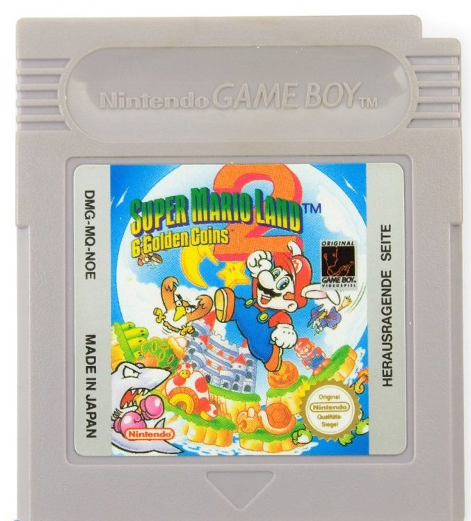 Super Mario Land 6 Golden Coins Gameboy Color GBC Cartridge Card