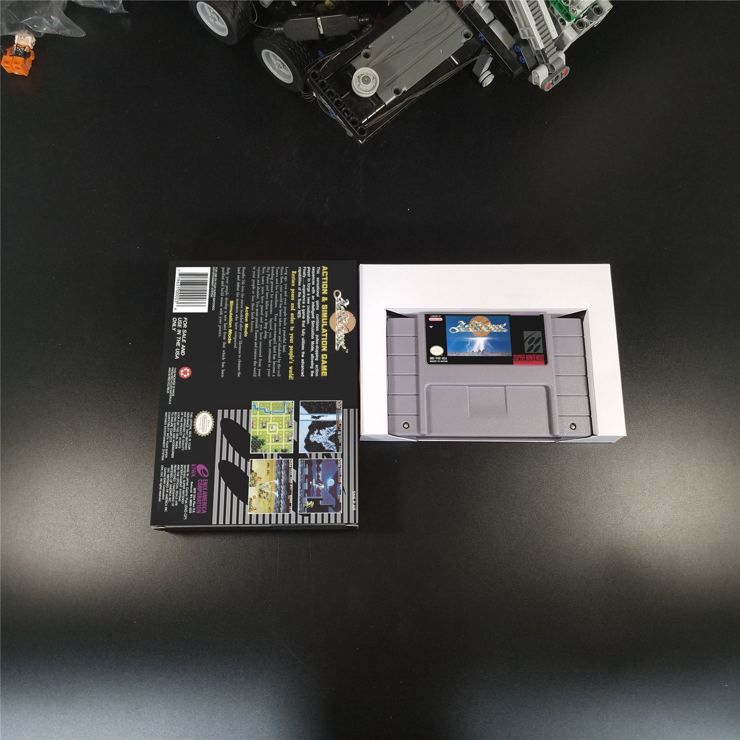 ActRaiser Snes Us Version With Retail Box