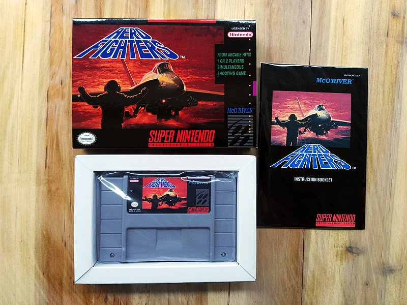Aero Fighters  Snes Us Version With Retail Box