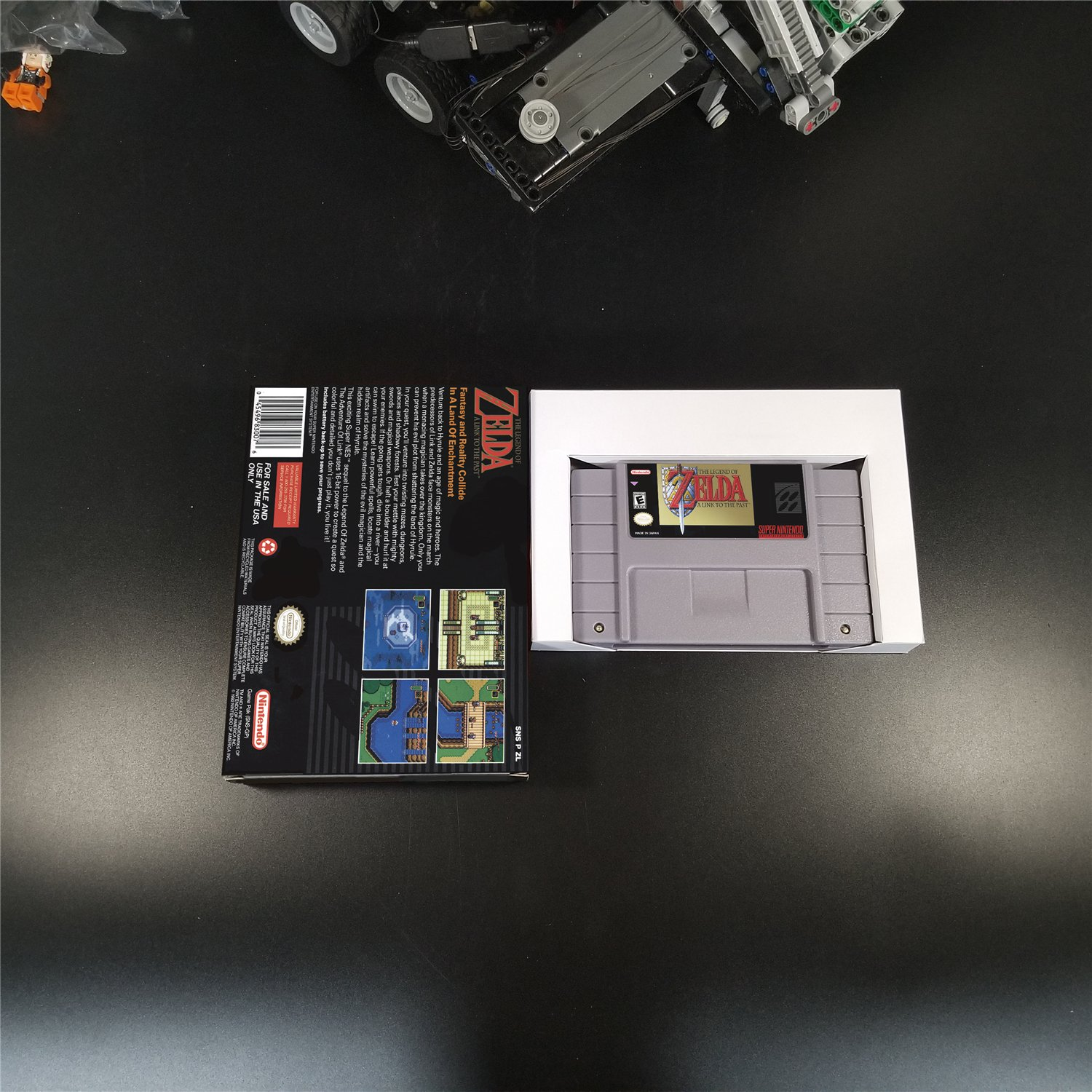 Legend of Zelda A Link to the Past Us Version With Retail Box