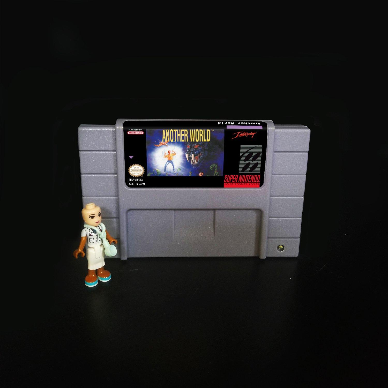 Another World Super Nintendo SNES NTSC Cartridge Card US Version