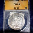 1921 S Morgan Silver Dollar, ANACS AU-53, Broadstruck, More VAMS