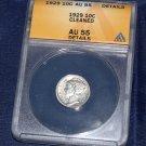 1929 P Mercury Dime, ANACS AF-55, Full Split Bands, little wear, great coin,