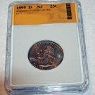 1999 D Washington, State Quarter, Proof, New Jersey, Mint