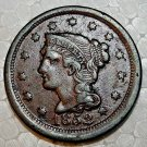 1852 Large Penny, Braided Hair, Liberty not worn or rubbed, Extra Fine Condition