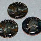 1985 George Washington Quarters, 3 Coins, (1) S proof cameo, (2) D&P Mint,