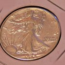 1942 P Walking Liberty Half Dollar, Extra Fine, Little Rubbing, Details Clean