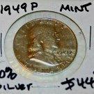 1949 P Ben Franklin Half Dollar,Rare,Nice Surface, XF, Uncirculated, Brilliant,
