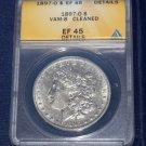 1897 O, Morgan Silver Dollar, ANACS EF-45, cleaned, VAM-8, Mint mark high
