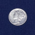 1938 P Mercury Dime, Extra Fine, Full Bands, and 90% silver.
