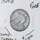 1929 D Standing Liberty Quarter Dollar, Fine and in over good condition.
