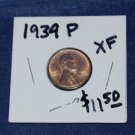1939 P Lincoln Wheat Penny, Extra Fine, nice clean coin.