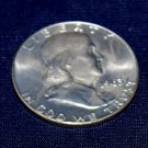 1963 D Ben Franklin Silver Half Dollar, Extra Fine, with original luster,  Uncirculated