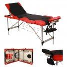 "3 Fold 84""L Aluminum Massage Table Facial Salon SPA Bed Carry Case Health Beauty"