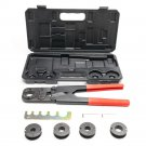 Home Manual PEX Pipe Crimping Tool Kit Labor-saving Sturdy With Box Hand Case