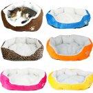 Pet Dog Bed Cushion Cat Soft Warm Fleece House Mat Kennel Sleep Play S/M 6 Color