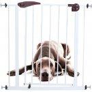 Baby Kids Pet Dog Safety Gate Door Walk Through Toddler Metal Easy Locking Using