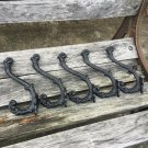 5 * Cast Iron Floral Designs Hook Coat Hooks Rack Tree Restoration Hardware