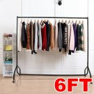 Multi Size Resilient Heavy Duty Rail Clothing Garment Portable Hanging Rack Display Stand