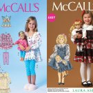 McCalls 7010 and 4703 Uncut-FF Sewing Pattern sz:Doll AG 18 & Girls' 6-8 ©2014
