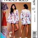 McCalls 7577 Misses Uncut-FF Accessories Jumpsuit Sewing Pattern sz:E514-22 ©2017