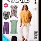 McCalls 6971 Women's Plus Uncut-FF Dress Pants Shorts Top Sewing Pattern sz:RR18w-24w ©2014