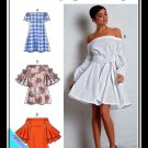 McCalls 7744 Misses Uncut-FF Dress Sewing Pattern sz:E514-22 ©2018