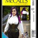 McCalls 7555 Misses Uncut-FF Corset Costume Top Sewing Pattern sz:E514-22 ©2016