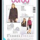 Burda 7330 Women's Plus Uncut-FF Jacket Sewing Pattern sz:18-28 ©2011
