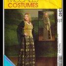McCalls 4340 Women's Plus Uncut-FF Corset Costume Cover-up Cape Sewing Pattern sz:EE14-20 ©2003