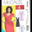 McCalls 6032 Women's Plus Uncut-FF Dress Sewing Pattern sz:RR18W-24W ©2010