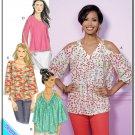Butterick 6457 Misses Uncut-FF Top Sewing Pattern sz:E514-22 ©2017