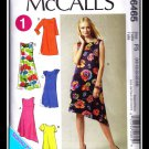 McCalls 1 hour 6465 Women's Plus Uncut-FF Dress Sewing Pattern sz:B58-16 ©2011