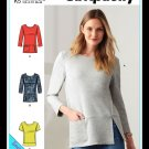 Simplicity 9275\R10992 Women's Plus Uncut-FF Top Sewing Pattern sz:U516-24 ©2021