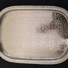 Vintage Moroccan Silver rectangular Tray Serving Tea Handmade From Fez